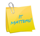 It matters post message illustration design — Stock Photo