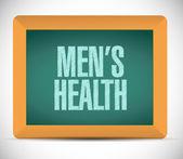 Mens health sign message illustration design — Stock Photo