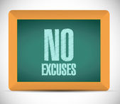 No excuses message illustration design — Stock Photo
