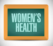 Womens health message illustration design — Stock Photo