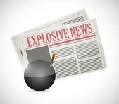 Explosive news concept illustration design — Stock Photo