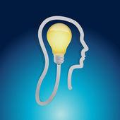 Light bulb ideas concept illustration design — Photo