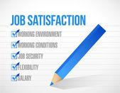 Job satisfaction check mark illustration design — Stock Photo