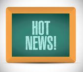 Hot news sign message illustration design — Stock Photo