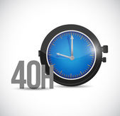 40 hours watch illustration design — Stock Photo