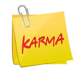 Karma message post illustration design — Stock Photo
