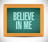 Believe in me chalkboard message illustration — Stock Photo