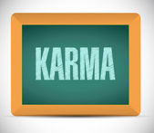 Karma chalkboard message illustration — Stock Photo