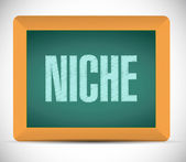 Niche chalkboard message illustration — Stock Photo