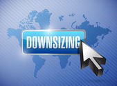 Downsizing button button illustration design — Stock Photo