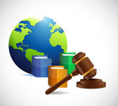 International law. legal concept illustration — Stock Photo