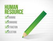 Illustration de coche de ressources humaines — Photo