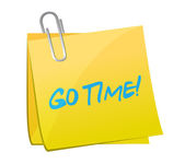 Go time post illustration design — Stock Photo