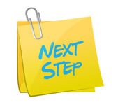 Next step message post illustration design — Stock Photo