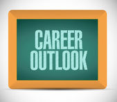 Career outlook message on board illustration — Stock Photo