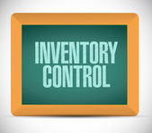Inventory control message on a chalkboard. — Stock Photo