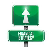 Financial strategy sign illustration design — Foto Stock