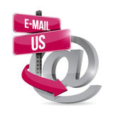 Email us at internet symbol illustration design — Stock Photo