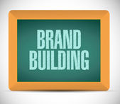 Brand building sign message illustration design — Stock Photo