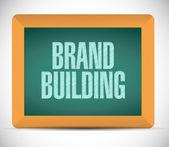 Brand building sign message illustration design — Stock Photo
