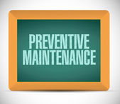 Preventive maintenance message sign illustration — Photo