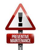 Preventive maintenance sign illustration design — Stock Photo