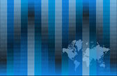 Binary world map blue illustration — Stock Photo