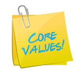 Core values post message illustration design — Stock Photo