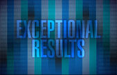 Exceptional results message over a binary — Stock Photo