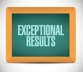 Exceptional results message sign on a blackboard — Stock Photo