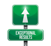 Exceptional results sign illustration design — Stock Photo