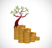 Monetary growth concept tree illustration design — Stock Photo