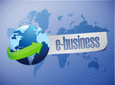 E-business globe illustration sign design — Stock Photo