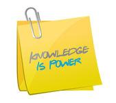 Wiedza jest potęga postu wiadomość. ilustracja — Zdjęcie stockowe