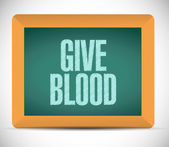 Give blood message sign on a chalkboard. — Stock Photo