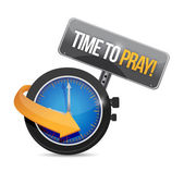 Time to pray watch and sign. illustration design — Stock Photo