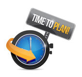 Time to plan watch and sign. illustration design — Stock Photo