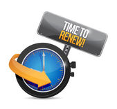 Time to renew watch and sign. illustration design — Stock Photo