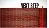 Next step over a wall illustration — Stock Photo