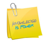 Knowledge is power post message. illustration — Stock Photo