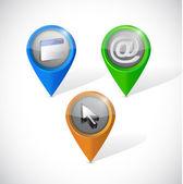 Internet icon pointers illustration design — Stock Photo