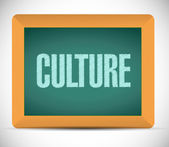 Culture message on a board. illustration — Stock Photo
