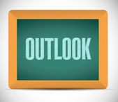 Outlook message on a chalkboard. illustration — Stock Photo