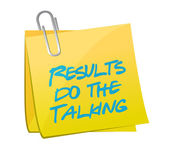 Results do the talking post message illustration — Stock Photo