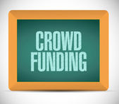 Crowd funding message on a board. illustration — Stock Photo