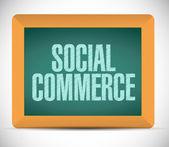 Social handel meddelande på ett bräde. illustration — Stockfoto