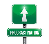 Procrastination signpost illustration design — Stock Photo