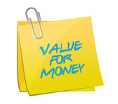 Value for money post message illustration design — Stock Photo
