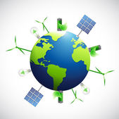 Eco natural business industrial globe. — Stock Photo