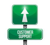 Customer support signpost. illustration design — Stock Photo